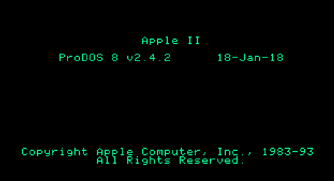 ProDOS 2.4.2 Boot Screen